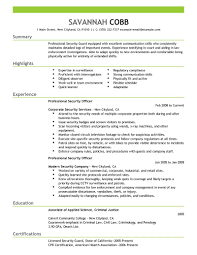 It Example Resume best professional security officer resume example livecareer