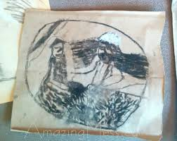 christmas art projects for kids charcoal nativity