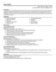 Financial Resume Sample by Unforgettable Accounts Payable Specialist Resume Examples To Stand