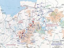 Map Of 1914 Europe by Map Of The Battle Of Tannenberg Aug 26 1914