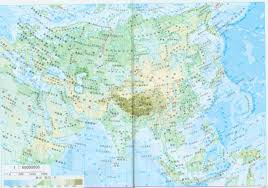 Map Of Asia by Large Detailed Physical Map Of Asia In China Asia Large Detailed