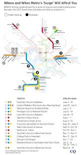Metro Lines Map by Metro Releases Final Plan On Repairs To Rail System