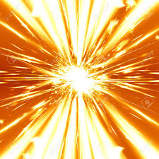 heavy explosion on a bright orange background stock photo picture