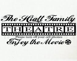 Home Movie Theater Wall Decor Theater Wall Decal Etsy