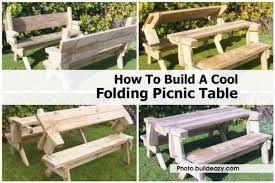 Free Wooden Picnic Table Plans by Folding Picnic Table Buildeazy Com Jpg