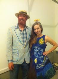 for halloween i was starry night my husband was van gogh