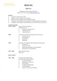 Sample Resume Qualifications List by Good Example Housekeeping Resume Templates