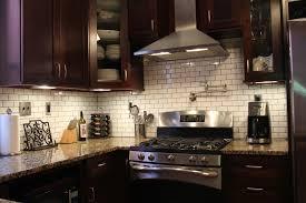 White Tile Kitchen Backsplash Good Looking Black Kitchen Cupboards And Subway Tiles Shining