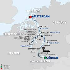 Map Of France And Switzerland by Amsterdam Cruises Avalon Waterways