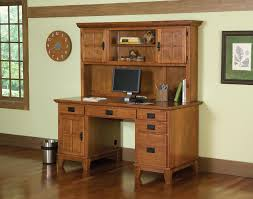 mission style white oak office furniture craftsman home office