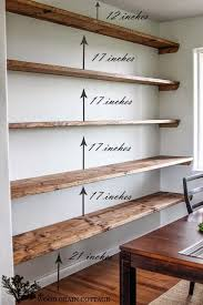 Wall Mounted Shelves Wood Plans by Best 25 Wooden Shelves Ideas On Pinterest Shelves Corner