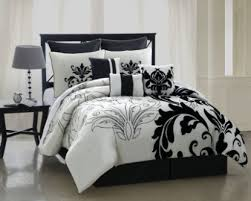 Ocean Themed Bedding Bedroom Luxury Embossed Solid Oversized Bedding With Black And