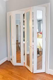Bifold Closet Door Locks by Mirror Bifold Closet Doors Stanley