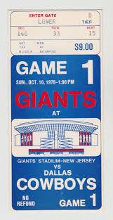 thanksgiving day cowboys game dallas cowboys vs ny giants 10 10 76 giants stadium inaugural game