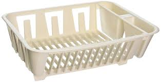 Plastic Dish Drying Rack Amazon Com Rubbermaid Antimicrobial In Sink Dish Drainer White