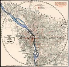 Oregon Map by 1933 1st National Bank Map Portland History Pinterest