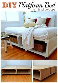 How To Build A Full Size Platform Bed With Drawers by Diy Platform Bed Ideas Diy Platform Bed Platform Beds And Storage