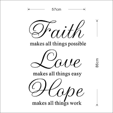 inspiration quote faith love hope home decor wall sticker mural