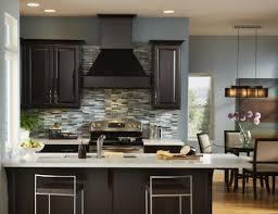white glass tile backsplash with dark cabinets amazing tile