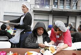 volunteer thanksgiving chicago on skid row an abundance of food and festivity on thanksgiving