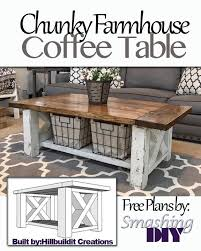 Free Woodworking Plans Round Coffee Table by Step By Step Guide On How To Build This Chunky Farmhouse Coffee
