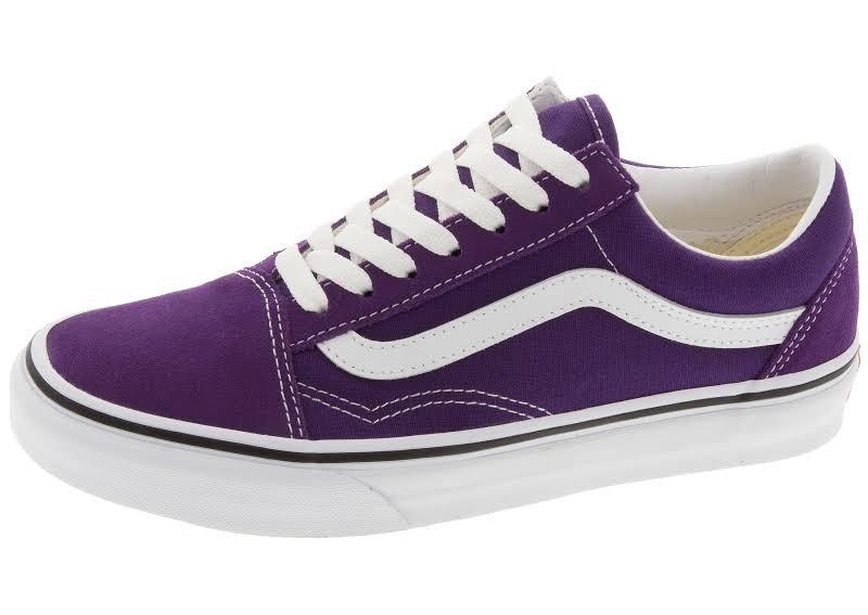 Vans Old Skool (Violet Indigo/True White) Skate Shoes-9.5