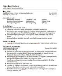 Civil Engineering Resume Samples by 31 Professional Engineering Resume Templates Free U0026 Premium