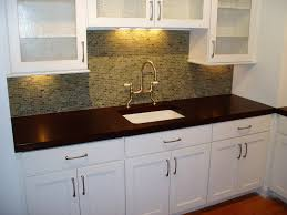 Dark And White Kitchen Cabinets All White Kitchen Cabinets And Sink Wooden Countertop Solid Island