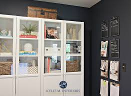 benjamin moore hale navy lrv and a home office with white