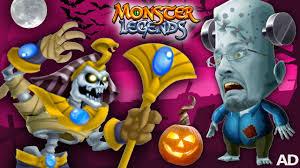 fgteev monster legends battle halloween game time fun