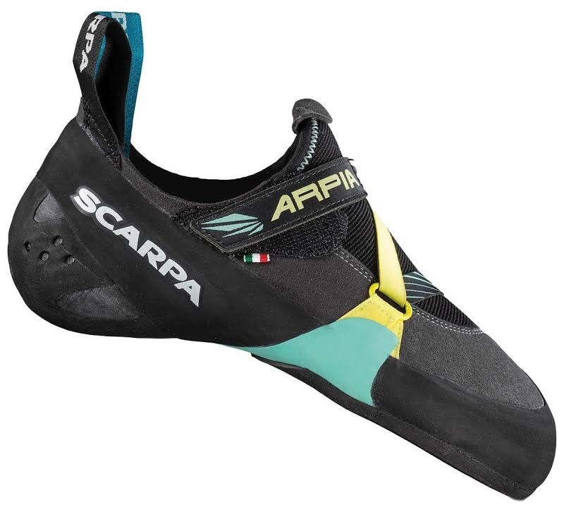 Scarpa Arpia Climbing Shoes Black/Aqua Medium 37.5 70058/002-BlkAqua-37.5
