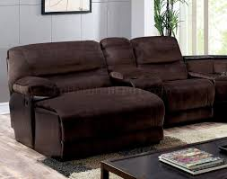 The Livingroom Glasgow by Reclining Sectional Sofa Cm6822 In Brown Microfiber
