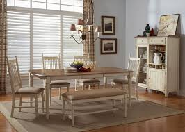 rectangular casual dining table in maple veneers with weathered