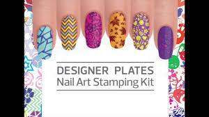 designer plates nail art stamping kit by morgan taylor youtube