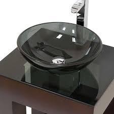 Bathroom Interesting Image Of Small Bathroom Decoration Using - Black bathroom vanity with vessel sink