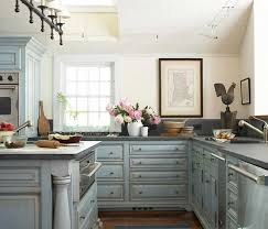 shabby chic kitchen cabinets with blue color ideas home interior