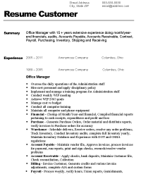 Before Version of Resume  Sample Office Manager Resume Resume Express