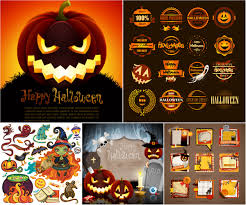 vintage halloween invitations vector vectorpicfree