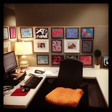 Office Decoration Theme Unique Cubicle Office Decorating Ideas With Dollar Tree Frames
