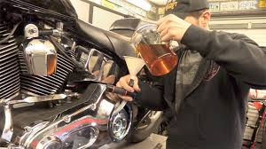 delboy u0027s garage harley softail service 2 primary oil change