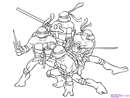 draw ninja turtles step step characters pop culture