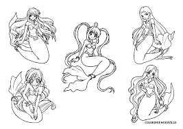 online coloring little mermaid