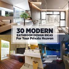 Modern Bathroom Design Ideas For Your Private Heaven Freshomecom - Contemporary bathroom designs photos galleries