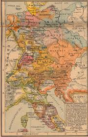 Map Germany by Germany And Italy In 1803