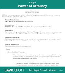 Florida Power Of Attorney Template by Power Of Attorney Form Free Poa Forms Us Lawdepot