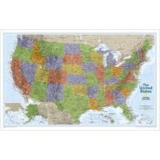 Unite States Map by United States Classic Wall Map National Geographic Store