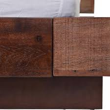 Wood Slat by Cindy Rustic Lodge Salvaged Peroba Wood Slat Queen Bed Kathy Kuo