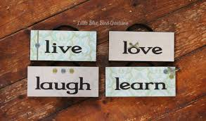 live laugh love learn hanging wood signs home decor wood