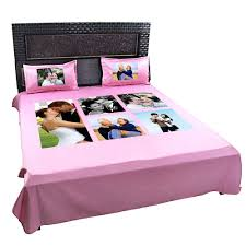 Cheap King Size Bed Sheets Online India Personalized Photo Collage Double Bedsheet Giftsmate