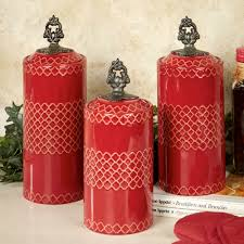 Pottery Canisters Kitchen Photo Album Collection Red Canister Sets All Can Download All